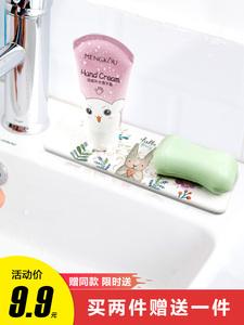 盒泥海藻牙膏硅藻垫洗手香皂吸水洗漱牙刷环保硅藻土垫皂拖台浴室