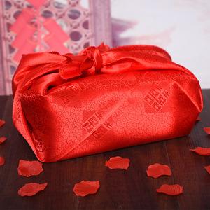 婚慶包袱皮結婚女方中式婚禮紅布包紅包袱皮娘嫁妝包裹布陪嫁用品