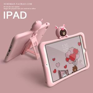 卡通可爱2018新ipad air2保护套pro平板mini5硅胶套迷你1/3/4软壳