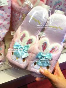 日本代购 sanrio三丽鸥 兔子my melody 居家拖鞋 兔耳朵束发带