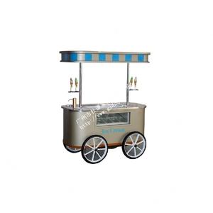 金屬餐車移動戶外美食餐車冰淇淋售貨車公園促銷花車結構美觀大方