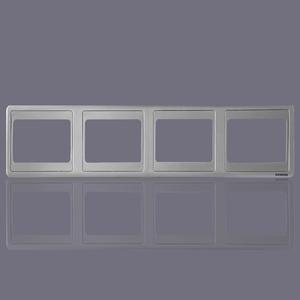 西门子开关插座面板 远景彩银墙壁开关四联边框中间边框连体边框