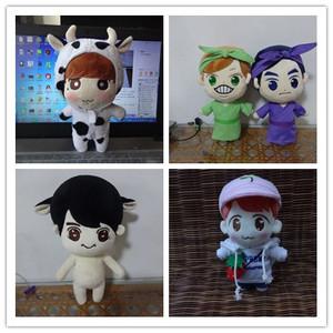 定做韩国明星exo玩偶毛绒玩具公仔小鲜肉偶像衍生动漫吉祥物萌娃