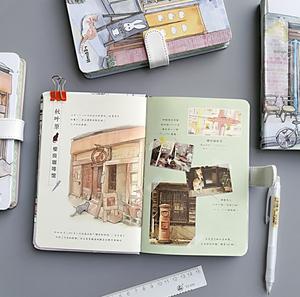 小店 小清新文艺韩国创意可爱彩页插画手绘日记本子手帐本