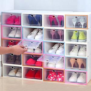 塑料鞋盒大号加厚收纳透明简易日本宿舍组合可折叠家用防尘整理箱