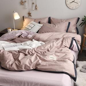 北歐ins風四件套純棉100全棉公主少女心床上用品三件套被子套床單