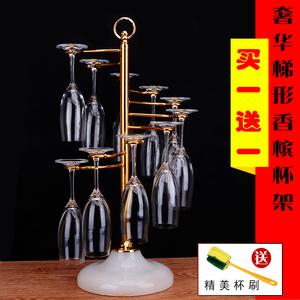 創意紅酒杯架旋轉雙層家用懸掛葡萄酒杯架不銹鋼個性歐式倒掛擺件