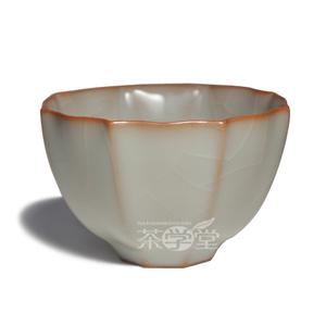 台湾柏采窑茶具 汝窑茶杯柏采窑冬青釉八方云集杯 功夫茶杯品茗杯