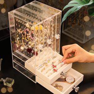珠宝首饰展示架挂耳环耳钉项链饰品架手链盒小亚克力透明欧式防尘