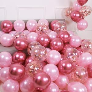 網紅馬卡龍色氣球婚禮結婚房間生日派對場景求婚布置創意用品臥室