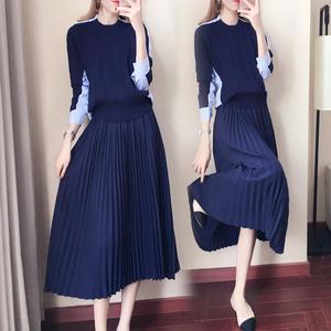毛衣裙两件套韩版秋冬