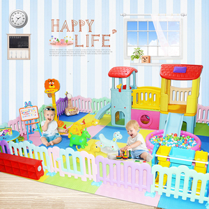 4s店儿童游乐场家用宝宝家庭游乐园室内小型滑梯秋千组合淘气堡