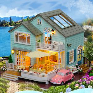 diy小屋手工拼装大型房子别墅模型 小木屋创意礼品送男女生日礼物