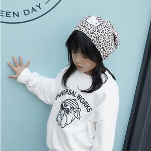 春秋冬季兒童針織帽純棉薄款女童寶寶毛線帽子豹紋hello kitty貓