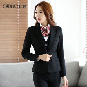 女士西服職業裝女裝套裝春秋修身西裝面試正裝工作服商務工裝套褲