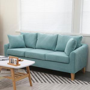 沙发小户型客厅卧室简约两人双人三人出租房服装店网红沙发可拆洗