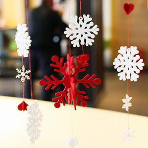 幼儿园红色雪花吊饰步骤