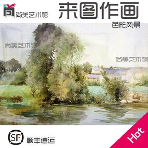 代画素描色彩水彩水粉画人物风景马赛克速写代画作业