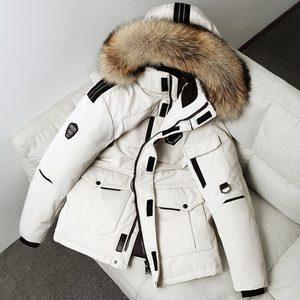 反季羽絨服男女短款冬季清倉大碼工裝加厚跑男情侶大鵝爆款外套潮