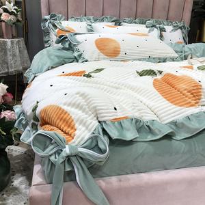 冬天魔法絨被套四件套少女心ins風毛絨雙面珊瑚絨床上用品公主風
