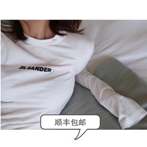【现货】 白色T恤女2019新款韩版修身字母长袖内搭打底体恤tee