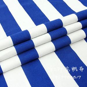 韓風ins藍白條紋裝飾布帆布沙發布窗簾抱枕布料甜品台桌布背景布