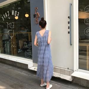 海南三亚沙滩裙女海边度假超仙泰国长裙抖音仙女裙纱裙网纱连衣裙