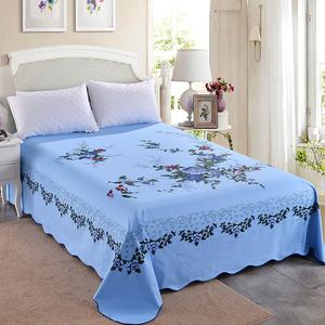 國民老式床單純棉絲光懷舊上海老粗布印花全棉加厚復古床單單件