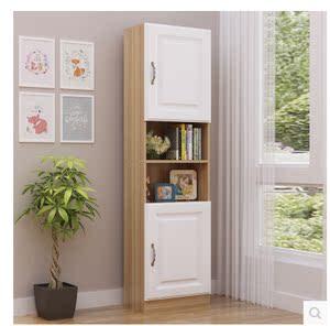 簡易學生書櫃書架兒童書櫃子自由組合儲物櫃落地窄櫃置物架收納櫃