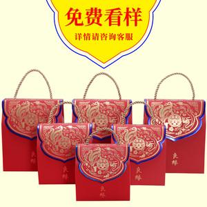 婚庆用品婚礼喜糖盒创意中国风结婚糖果盒礼盒装手提喜糖袋子盒子