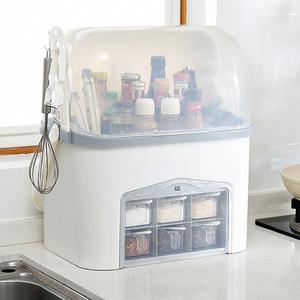 厨房调料收纳盒置物架放盐糖的用品调味罐组合套装家用大全多功能