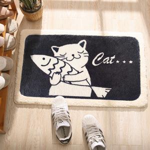 衛生間門口吸水門墊浴室腳墊防滑墊卡通進門地墊家用臥室地毯墊子