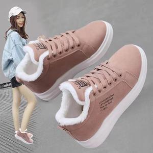 棉鞋女加絨運動冬季2019新款加厚保暖韓版學生休閑百搭秋冬板鞋子