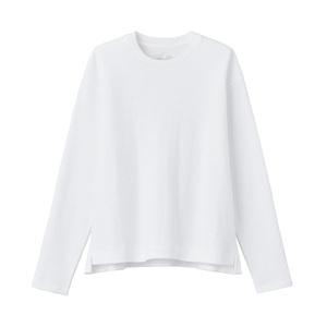 无印良品 MUJI 女式 粗细不均棉线双罗纹 长袖T恤