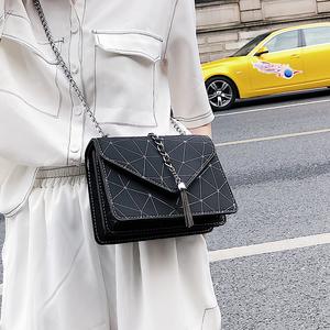 代购小包包女2019秋冬季新款几何流苏时尚斜跨少女仙女单肩链条包