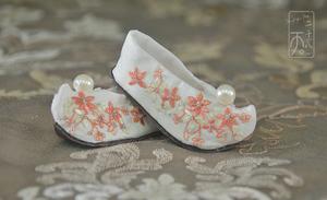 【二十八天】#翘头履#bjd鞋子 古装绣花鞋大女三分女娃鞋
