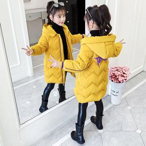 女童加厚棉衣外套冬装6儿童装宝宝三4五六7八9十岁小女孩洋气棉服