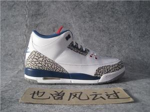 Air Jordan 3 OG True Blue AJ3 白蓝男篮球鞋 854261 854262-106