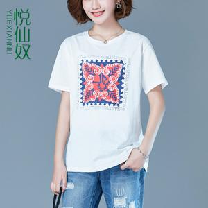 ?#21672;玹恤女短袖2019夏季新款女装韩版宽松纯棉超火cec上衣时尚丅恤