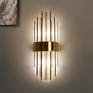 后現代輕奢水晶壁燈客廳燈電視背景墻壁燈臥室床頭燈過道樓梯燈