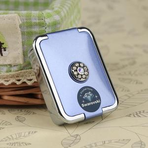 欧式宫廷镶施华洛世奇水晶钻便携带随身迷你分3格装塑料小号药盒