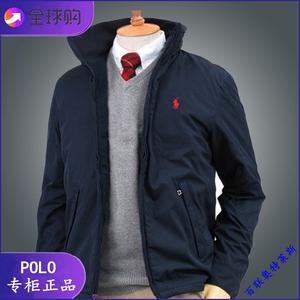 美国正品polo ralph lauren男夹克冬季小马加绒保暖修身风衣外套