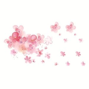 古风樱花花瓣纹身贴纸防水女持久性感锁骨红色小花韩国小清新桃花图片