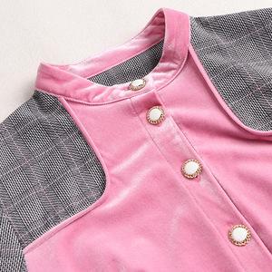 代購格子風衣連衣裙女超長款到腳踝2020春季新款氣質收腰反領長裙