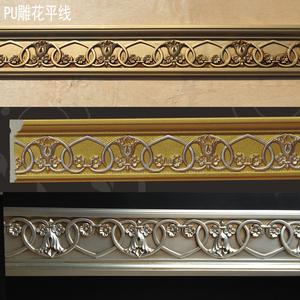 欧式框线条描金仿古框条pu背景墙压边收口镜框线雕花仿石膏线2076