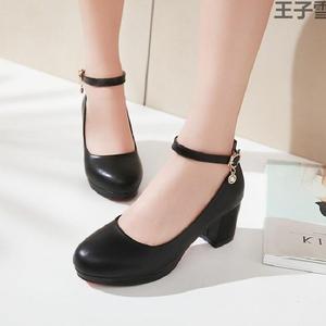 定做大碼紅色初音洛麗塔小櫻夏娜cos學生粗跟制服鞋lolita鞋