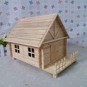 竹签手工制作房子