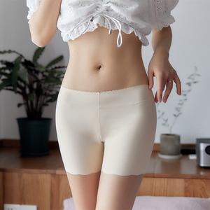 冰絲無痕防走光女夏季蕾絲可內外穿三分保險短褲薄款安全褲打底褲