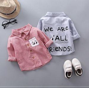 新款棉料柔软春秋装纯棉小班男童长袖衬衫薄款小孩单衣男孩修身