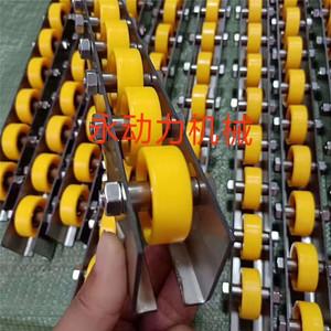 属铁流利条 迷你滚筒20*25轴承金属宽轮 金轮条 滑道导轨流水线